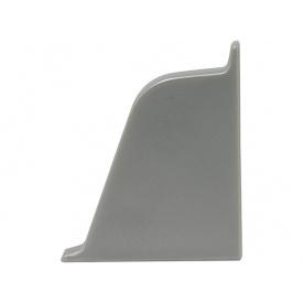 Заглушка к плинтусу 118 Rehau Серый металлик-правая 98656