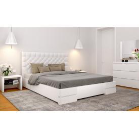 Кровать Камелия (обивка квадрат) бук 160х200 с подъемным механизмом