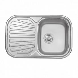 Кухонная мойка Qtap 7448 Satin 0,8 мм (QT7448SAT08)