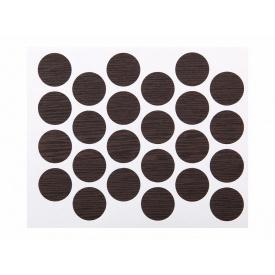 Заглушка минификса самоклеющаяся Weiss d=20 бук шоколадный 24 шт 7104