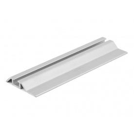 Направляющий профиль нижний одинарный Slider усиленный серебро мм 5000