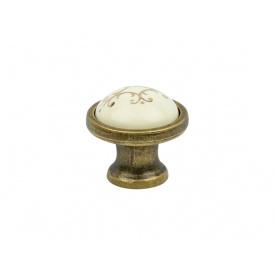 Ручка кнопка Virno Azure 100R MLC A18 бронза