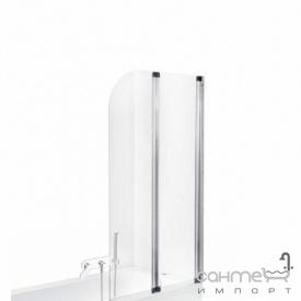 Шторка для ванны Besco PMD Piramida Ambition-2 80,5х140 хром стекло прозрачное