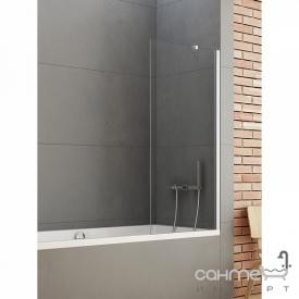 Шторка для ванни New Trendy New Soleo P-0032 хром / прозоре скло