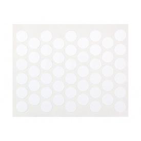 Заглушка конфирмата самоклеющаяся Weiss d=14 белый глянец 50 шт 311