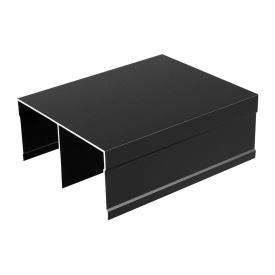 Направляющий профиль верхний Slider мм 5000 черный матовый