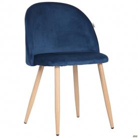 Стул обеденный Sherry beech/blue velvet