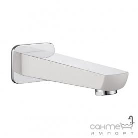 Излив Imprese Breclav white VR-11245W хром белый
