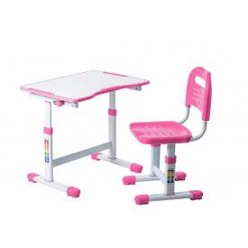 Комплект парта і стілець-трансформери Sole II Pink