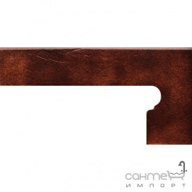 Клинкерная плитка боковина правая 20x39 Gres de Aragon Albany Zanquin right Siena коричневая