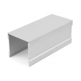 Направляющий профиль верхний одинарный Slider усиленный серебро мм 5000