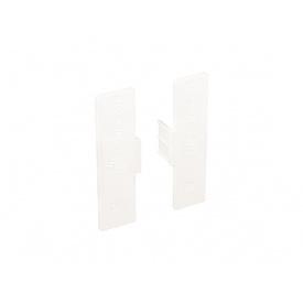Заглушка закрытая к С-образному профилю Gola Volpato Clap`n`FIT белый пара