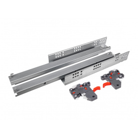 Направляющая скрытого монтажа полного выдвижения c доводчиком Clip 3D GIFF PRIME 19 мм мм 550