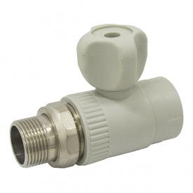 Кран радиаторный прямой PPR ASG PN20 НР 25 мм 3/4' 1418252176