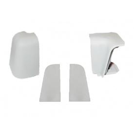 Комплект к плинтусу VOLPATO серый 2 заглушки 1внешн.+1внутр. угол мм 5000
