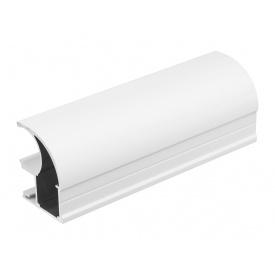 Вертикальный открытый профильс пазом под щетку Slider Expert мм 5200 белый матовый
