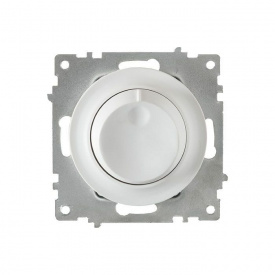 Светорегулятор 600 W для ламп накаливания и галогенных ламп, цвет белый (серия Florence) арт.1Е42001300
