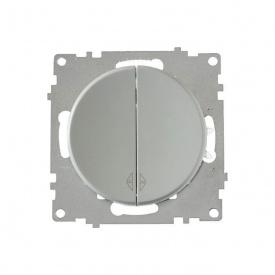 Переключатель двойной, цвет серый (серия Florence) арт.1Е31601302
