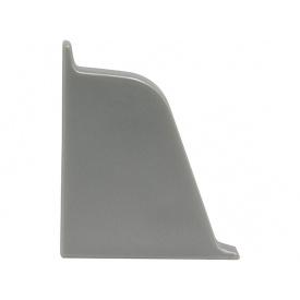 Заглушка к плинтусу 118 Rehau Серый металлик-левая 98656