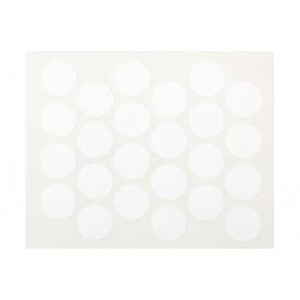 Заглушка минификса самоклеющаяся Weiss d=20 белый 24 шт 1110