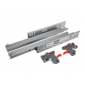 Направляющая скрытого монтажа полного выдвижения c доводчиком Clip 3D GIFF PRIME 16 мм мм 400
