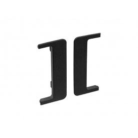 Заглушка открытая к С-образному профилю Gola Volpato Clap`n`FIT черный матовый пара