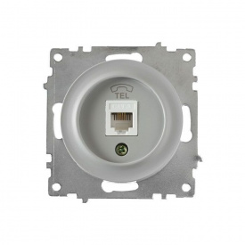 Розетка телефонная 1xRJ11, цвет серый (серия Florence) арт.1Е20601302