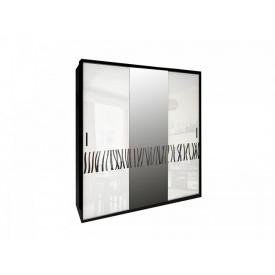 Шафа-купе Терра глянець білий чорний мат 200х213х66 см