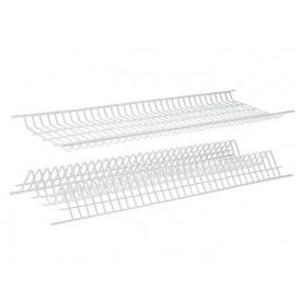 Посудосушитель фасад 600 REJS білий 2 полиці 1 піддон і 8 кріплень