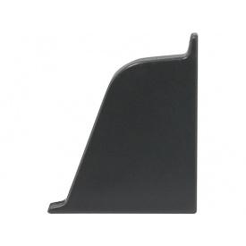 Заглушка к плинтусу 118 Rehau Темно-серый-правая 98151