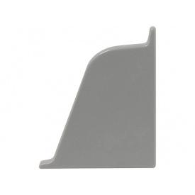 Заглушка к плинтусу 118 Rehau Оловяно-серый-правая 98170
