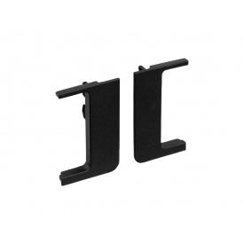 Заглушка открытая к L-образному профилю Gola Volpato Clap`n`FIT черный матовый пара