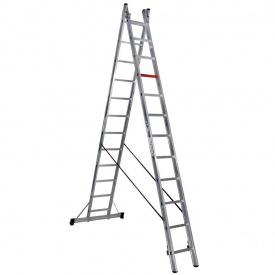 Двухсекционная алюминиевая лестница-стремянка Virastar 2x12