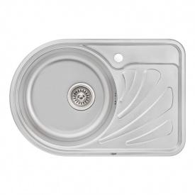 Кухонная мойка Qtap 6744L Micro Decor 0,8 мм (QT6744LMICDEC08)