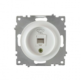 Розетка телефонная 1xRJ11, цвет белый (серия Florence) арт.1Е20601300