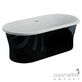 Отдельностоящая акриловая ванна Polimat Amona Nero New 150x75 00058 белая/черный глянец
