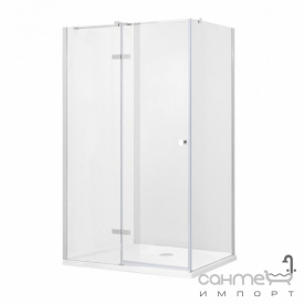 Прямокутна душова кабіна Besco Pixa L 100x90x195 прозоре скло лівостороння