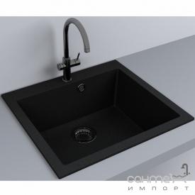 Кухонна мийка гранітна Fancy Marble Jersey 560 сірий