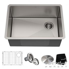 Кухонная мойка c аксессуарами Kraus Standart PRO KHU111-25 нержавеющая сталь