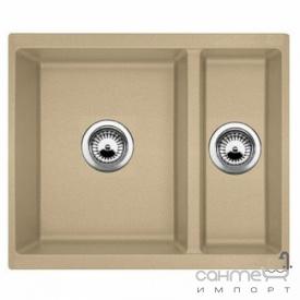 Гранитная кухонная мойка Fabiano Quadro 56x46x15 Beton Серый