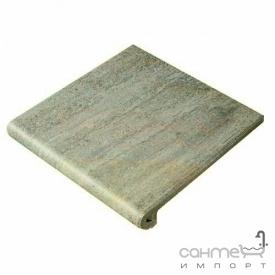 Клинкерная плитка ступень 33x33 Gres de Aragon Columbia Peldano Ref. 24-33 Aguamarina серо-голубая