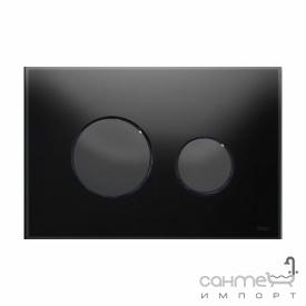 Панель смыва с двумя клавишами стеклянная (черное стекло) TECE TECEloop 9.240.657 клавиши черные