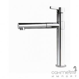Кухонный смеситель с выдвижным душем SystemCeram Snella shower 10076 Хром