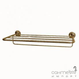 Полочка с держателем для полотенец настенная Pacini & Saccardi Accessori Doccia 30151/В бронза