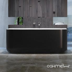 Пристенная ванна из литого камня Balteco Gamma 160 CW белая внутри/Red Violet RAL 4002