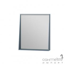 Зеркало в ванную комнату Ювента Manhattan 60 с LED подсветкой и выключателем голубое