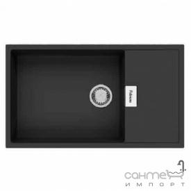 Гранітна кухонна мийка Fabiano Cubix 86x50 XL Antracit чорна