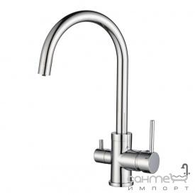 Змішувач для кухні з підключенням до фільтру AquaSanita Sabiaduo 2963 хром