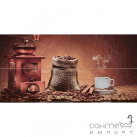 Плитка керамическая декор Absolut Keramika Coffe Beans Composition 02 40x20