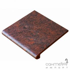 Клинкерная плитка ступень 33x33 Gres de Aragon Jasper Peldano Ref. 24-33 Rojo красная